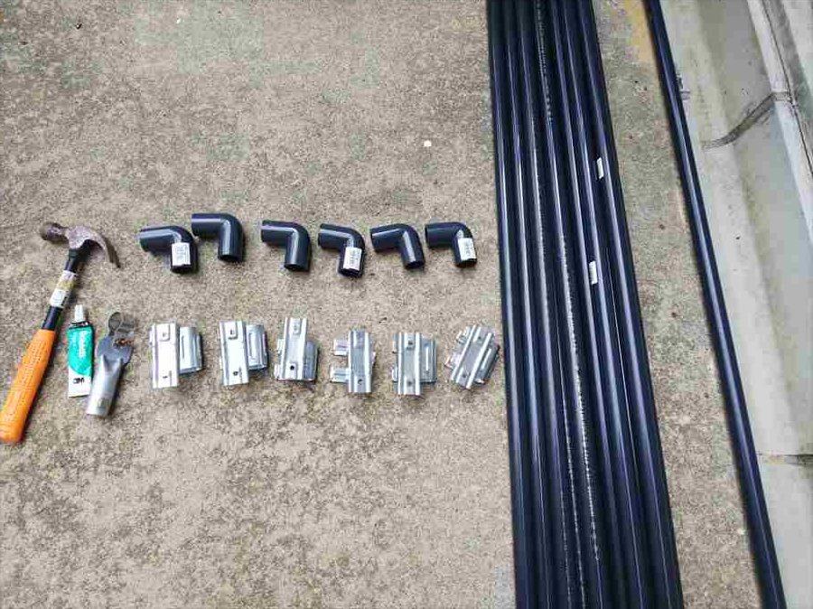 購入した材料と道具