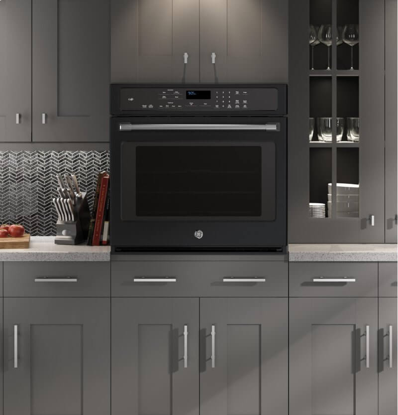 Slate Appliances  Bold Kitchen Cabinet Colors for 2018