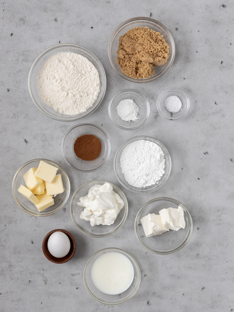 All of the ingredients for baked donuts
