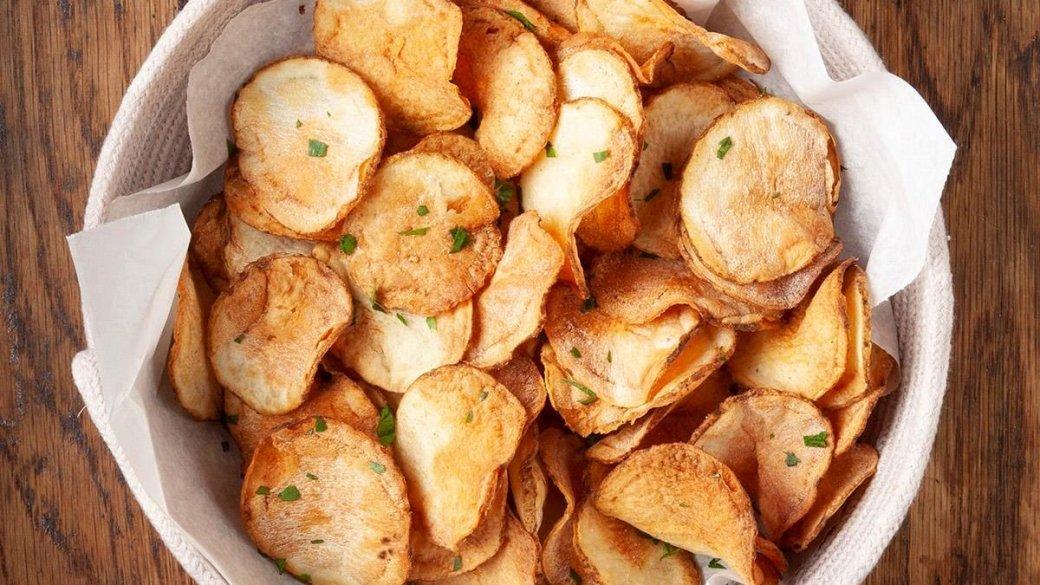 Kartoffelchips aus der Heißluftfritteuse