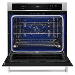 Kitchen Aid Wall Oven Cart On Sale Stainless Steel 30 Single With Even Heat True Convection