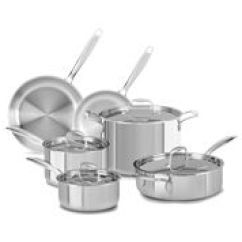 Kitchen Aid Pans Beveled Subway Tile Cookware Cooking Sets Kitchenaid Find Sleek Performance At