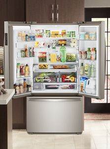 small resolution of home kitchen featuring a whirlpool refrigerator