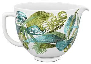 kitchen aid bowls modern rug tropical floral 5 quart patterned ceramic bowl ksm2cb5ptf kitchenaid