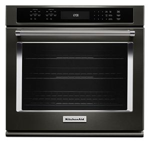kitchen aid ovens blue cabinets wall kitchenaid 27 single oven with even heat true convection