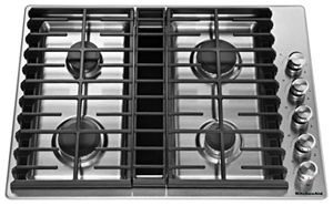 kitchen aid cooktop build table stainless steel 30 4 burner gas downdraft kcgd500gss kitchenaid