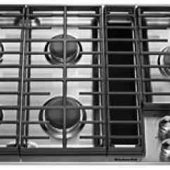 Kitchen Aid Cooktop Trays Stainless Steel 36 5 Burner Gas Downdraft Kcgd506gss Kitchenaid