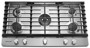 kitchen aid gas cooktop home depot remodeling stainless steel 36 5 burner kcgs556ess kitchenaid