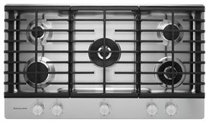 kitchen aid cooktop accent table stainless steel 36 5 burner gas with griddle kcgs956ess kitchenaid