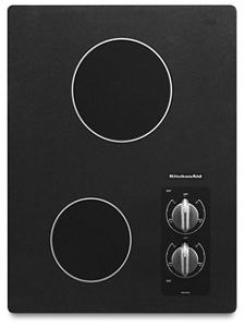 kitchen aid cooktop black trash can see all cooktops kitchenaid 15 electric with 2 radiant elements