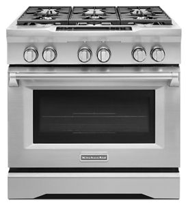 kitchen aid gas stove cabinets design layout all ranges kitchenaid 36 6 burner dual fuel freestanding range commer