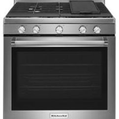Kitchen Aid Gas Stove Cost Of Remodel Ranges Kitchenaid 30 Inch 5 Burner Convection Range