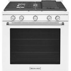 White Kitchen Aid Delta Faucet Repair 30 Inch 5 Burner Gas Convection Range Kfgg500ewh Kitchenaid