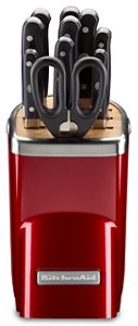 kitchen aid knives brushed nickel hardware professional cutlery kitchenaid 11pc series set