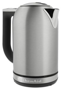 kitchen aid electric kettle mixers on sale brushed stainless steel variable temperature kek1722sx kitchenaid
