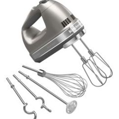 Kitchen Aid Silver Faucet Diverter Cocoa 9 Speed Architect Hand Mixer Khm926acs Kitchenaid