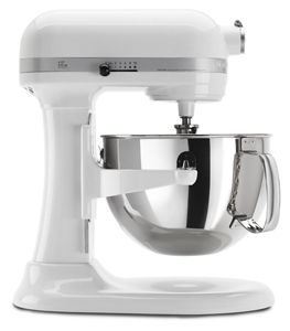 kitchen aid pro 600 cabinets cincinnati white series 6 quart bowl lift stand mixer kp26m1xwh kitchenaid