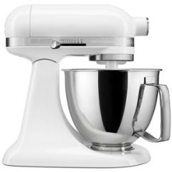 White Kitchen Aid Swivel Chairs Artisan Mini 3 5 Quart Tilt Head Stand Mixer Ksm3316xwh Kitchenaid
