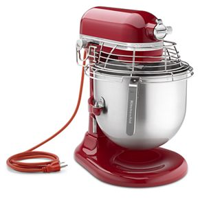 red kitchen aid mixer hats empire nsf certified commercial series 8 qt bowl lift stand with stainless steel guard ksmc895er kitchenaid