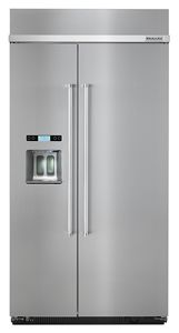 kitchen refrigerator charlotte cabinets built in refrigerators kitchenaid 25 0 cu ft 42 inch width side by with printshield finish