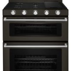 Kitchen Ranges Roll Up Cabinet Doors Kitchenaid Premium Double Oven Freestanding