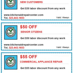 Kitchen Aid Coupons Cabinets Knobs And Pulls Specials Appliance Repair Los Angeles Kitchenaid