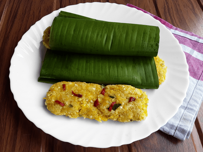 Chili Pumpkin Kadambe - A special Konkani teatime snack for diabetics and for chili lovers alike.