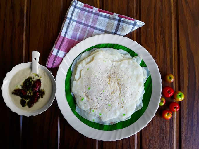 Savory Taushali - A Konkani savory cucumber pancake