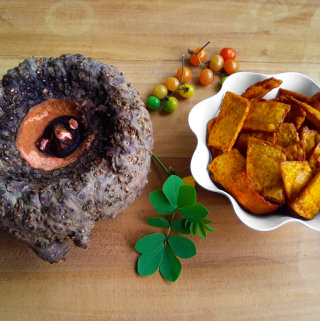 Surna Kachri - Crispy deep-fried elephant foot yam chips