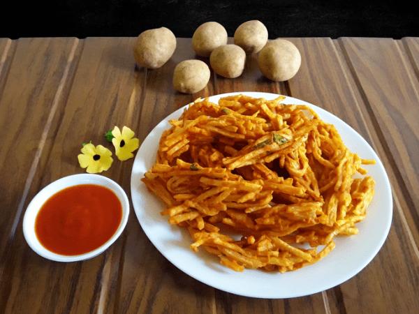 Tasty, deep-fried potato snack.