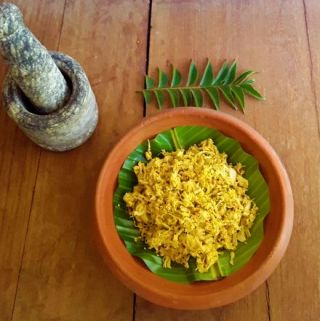 Kadgi Chakko - A delicious, traditional Konkani, hot and savory tender jackfruit side dish.