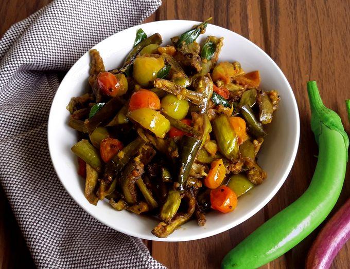 Brinjal Roast - Vaingana Bhajja Pitto (Vegan + Gluten Free)