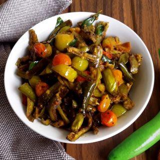 Brinjal Roast – Vaingana Bhajja Pitto (Vegan + Gluten Free)
