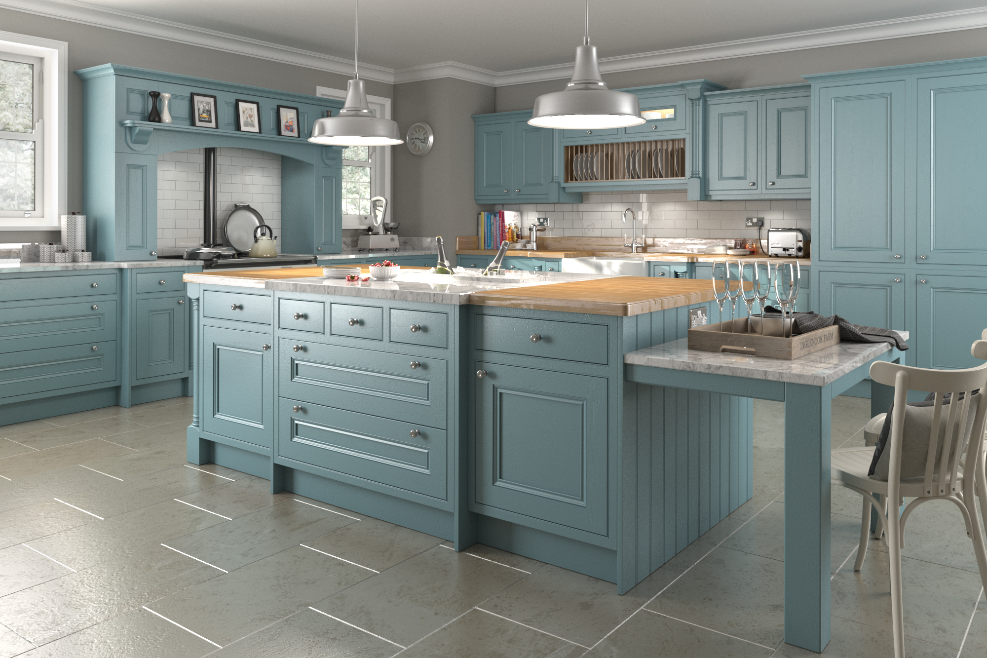 Traditional in frame kitchen design