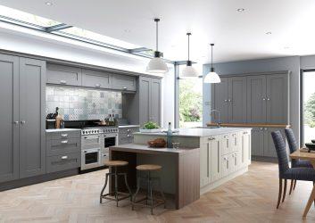 kitchen kitchens measure grey finsbury suppliers remodel door cuddy ireland mussel replacement shaker mdf