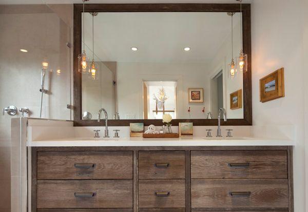 Vintage Bathroom Vanity with Large Mirror Northern VA