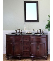 Traditional Cherry Vanity with Custom Sink Northern VA Reston