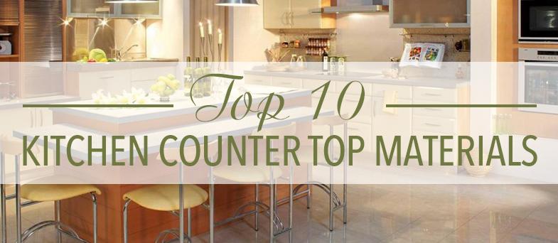 Top 10 Kitchen Counter Top Materials  Kitchen Bath Trends