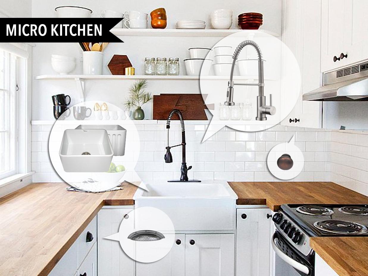 Mood Board 90 Micro Kitchens  Kitchen Bath Trends
