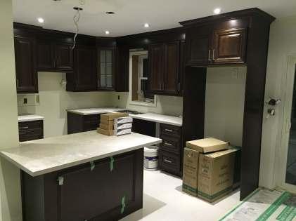 Kitchen Backsplash and floor installation