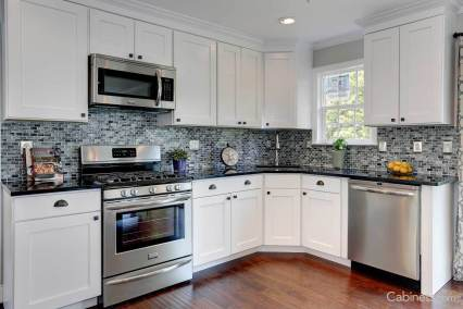 Kitchen cabinets countertop backsplash