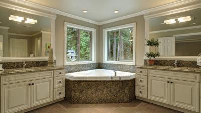 Large custom bathroom vanity redesign