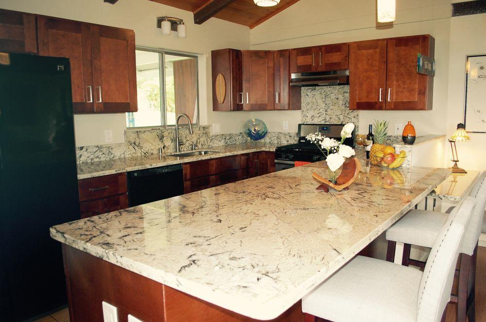prefab kitchen island white kitchens cabinets countertops | & beyond big island, hawaii ...