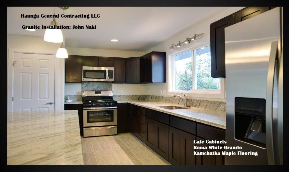 roller kitchen island glass top table set cabinets | & beyond big island, hawaii granite ...
