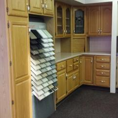 Kitchen Displays For Sale Clearance Cabinets This Is A Golden Oak Display The Wall Are Standard Depth With Clear Glass And Stained Doors There 24 Inch Corner Tambour
