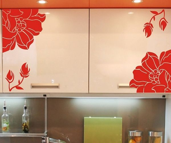 decorating cabinets with stickers (5)