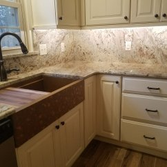 Copper Sink Kitchen Table Set With Bench Remodeling Salisbury Md Previous Brown Granite