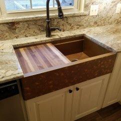 Copper Sink Kitchen Ladder Remodeling Salisbury Md Flush In Granite Top