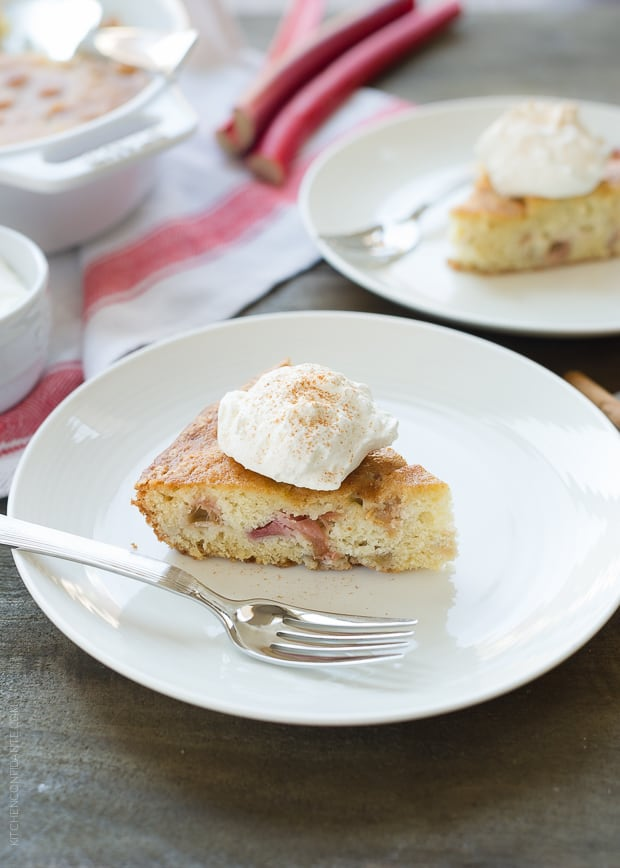 Rhubarb Cake | www.kitchenconfidante.com | Make this simple cake and you'll understand why it is a family favorite!