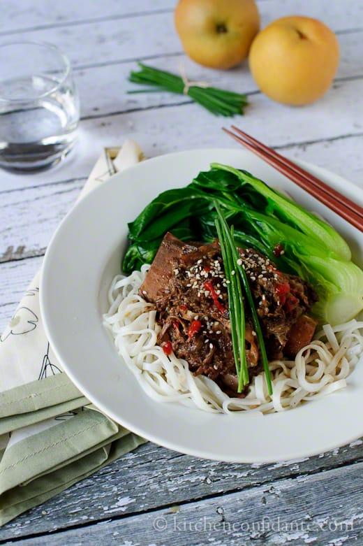 Korean-style Short Rib Noodle Bowl